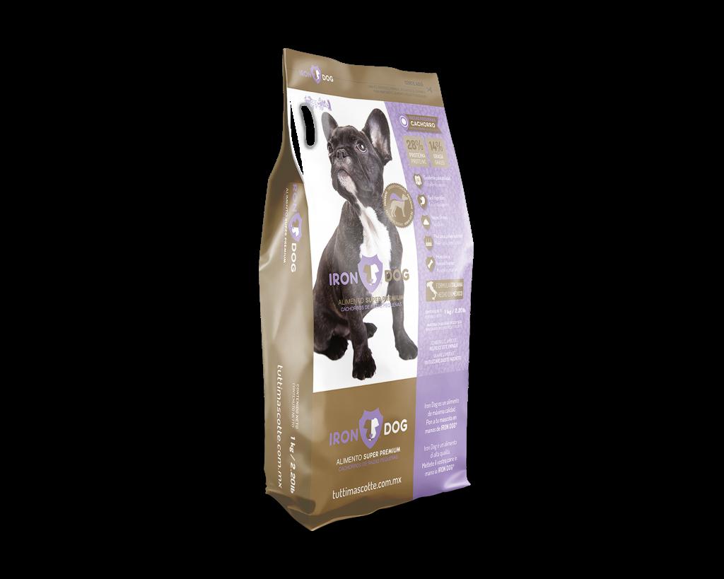croquetas super premium iron dog cachorros razas pequenas