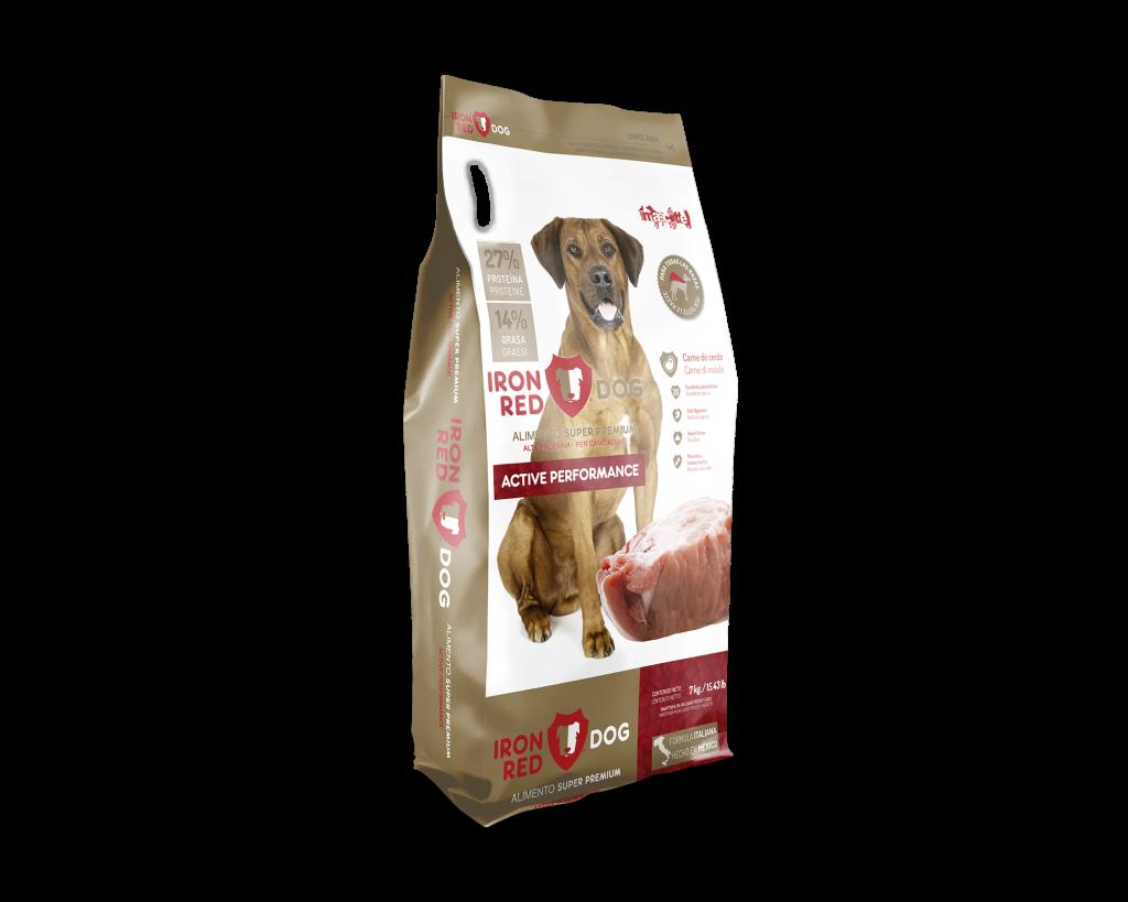 bolsa de pienso para perro de entrenamiento y trabajo iron dog red